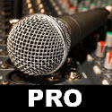 studio and recording microphone test