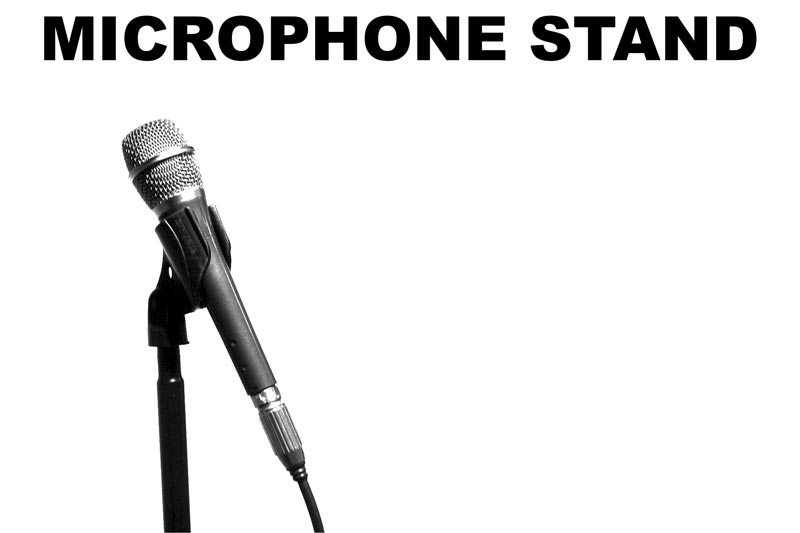 Microphone Stand for Concerts, Recordings and Speeches