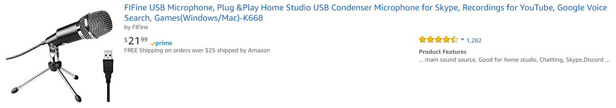 USB Microphone Home Studio K668